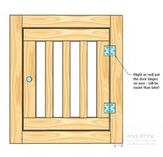Large Wood Pet Kennel End door.....to make for the built in kennel for the dogs in kitchen.