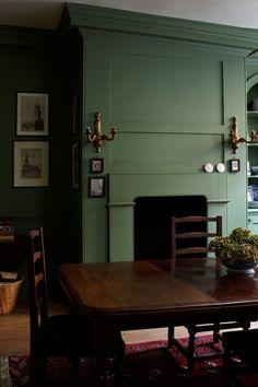 farrow ball chalke green dining room My Favorite Green Paint Colors. Green Dining Room, Green Rooms, Green Kitchen, Green Walls, Kitchen Walls, Orange Rooms, Kitchen Paint, Green Paint Colors, Room Colors