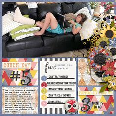 Digital Scrapbook Page Layout by Juli using Messy Bun Kind of Day and matching Journal Cards from Etc by Danyale at The Lilypad #etcbydanyale #digitalscrapbooking #memorykeeping #messybun