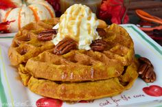 Pumpkin Buttermilk Waffles
