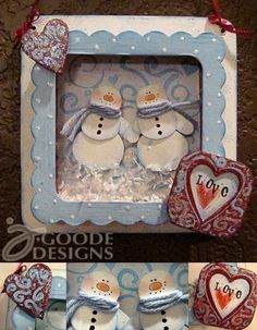 cute snowman wall decor using my own snowman art stamp and Sizzix die by @Eileen Hull