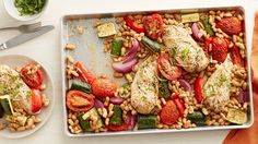 This fresh, easy and complete chicken-and-veggies dinner comes together quickly and delivers on delicious Italian flavor – all in one pan.