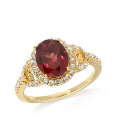 Shop Rarities: Fine Jewelry with Carol Brodie 2.27ct Camrosette Garnet and White Zircon Vermeil Ring, read customer reviews and more at HSN.com.