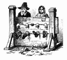Criminal law in colonial Maryland was modeled after the European system of law. Each county was required to have; stocks, a whipping post, ducking stool, branding iron, and a jail. Execution was carried out on the gallows.