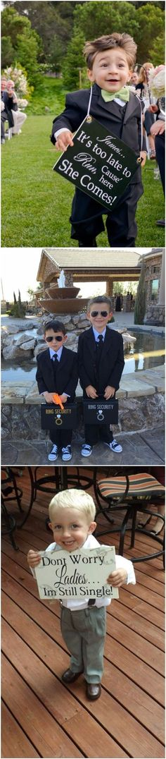 Ring Bearer » 18    Ring Bearer Signs Ideas Too Funny Not To Try » ❤️ See more:    http://www.weddinginclude.com/2017/06/ring-bearer-signs-ideas-too-funny-not-to-try/ #weddingideas
