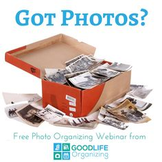 FREE photo organizing webinar on 9/15/16. Reserve your spot today! #photoorganizing #pictures