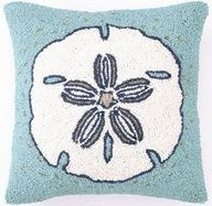 Sand Dollar Pillow  ⚓ Beach Cottage Life ⚓