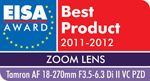 EISA Award 2011-2012: Best Product Zoom Lens for Tamron 18-270mm Di II VC PZD 15X all-in-one zoom lens Zoom Lens, Lenses, All In One, Awards, Lentils