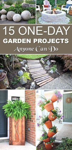 Small, one day DIY garden projects that are not only easy to follow and creative but budget friendly too. Take a look!  #GardenIdeas