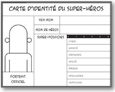 for a superhero library theme. From la classe de Mallory Father's Day Activities, Library Activities, Writing Activities, Classroom Activities, French Teacher, Teaching French, French Practice, Superhero Classroom, Superhero Party