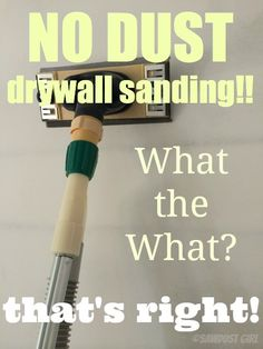 Use a drywall sander that connects to a shop vac to control the dust while sanding drywall. Thi is a great sander to use after skim coating. Diy Videos, Do It Yourself Home, Improve Yourself, Home Renovation, Home Remodeling, Skim Coating, Drywall Sander, Just In Case, Just For You