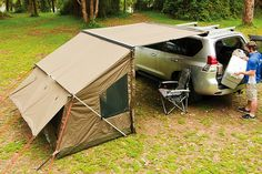 Rhino Rack Oztent Tagalong Tent RV5T Description: The Rhino-Rack Tagalong Tent is the perfect accessory to compliment your Foxwing or Sunseeker 2.5m Awning. Simply zip it onto the side of the awning to form the perfect outdoor accommodation. The Tagalong Tent comes with a 100% water proof rip-stop poly cotton canvas, side windows, rear window, insect proof mesh screens, attached guy ropes and what's more - there's no frame! Just zip it on and peg it to the ground. With such an easy fitting…