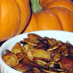 """""""These pumpkin seeds make a great tasting and healthy snack."""""""