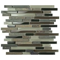 Merola Tile Tessera Piano Stonehenge 11-5/8 in. x 11-3/4 in. x 8 mm Glass and Stone Mosaic Tile GDMTPNH at The Home Depot - Mobile