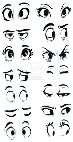 drawing girl eyes cartoon - Buscar con Google
