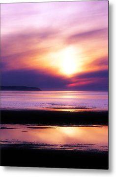 Purple Sunset :: Metal Print by maigi
