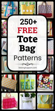 Free Tote Bag Patterns Free Tote Bag patterns, tutorials, and diy sewing projects. Many simple and easy designs. Bag Pattern Free, Bag Patterns To Sew, Tote Pattern, Sewing Patterns Free, Free Tote Bag Patterns, Diy Sewing Projects, Sewing Tutorials, Sewing Tips, Bag Tutorials