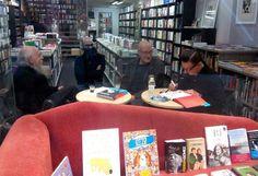 Antonio Altarriba y Keko pasaron por la librería para firmar ejemplares de su libro 'Yo, asesino'.