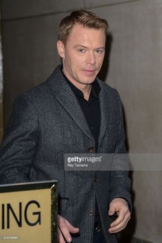 Actor Diego Klattenhoff leaves the 'Today Show' taping at the NBC Rockefeller Center Studios on February 24, 2014 in New York City.