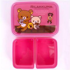 Rilakkuma Bear Bento Box Lunch Box Chocolate & Coffee