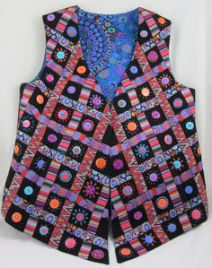 Great vest idea by Kaffe Fassett and hand made by Elaine Schmidt from Renaissance Ribbons!