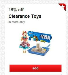 15% off clearance toy Target Cartwheel