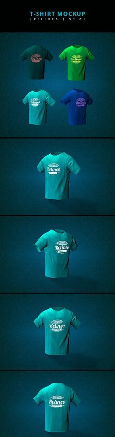 CM - Relineo T-shirt Mock-up Pack 485526