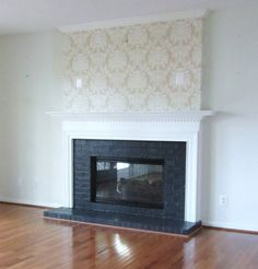 DIY Brick Fireplace Makeover | ... Fireplace Makeover: Adding Style With Painted Brick and A New Mantel