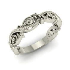Vintage Ring in 14k White Gold
