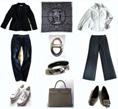 Neutral winter capsule wardrobe with Hermes scarf, bag and bracelet