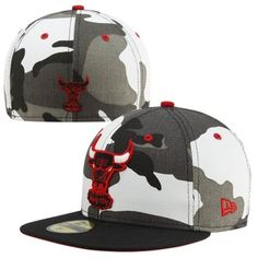 New Era Chicago Bulls Urban Camo 59FIFTY Fitted Hat - Black White d9267e015f7