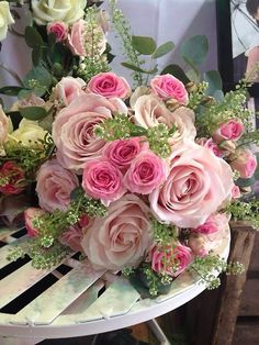 love the pink shades for a wedding bouquet....