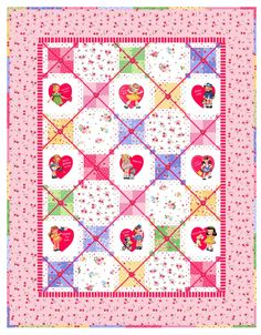Sweet Little Words quilt designed by Holly Holderman