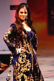 Deep purple with gold embellishments at Bangalore Fashion Week 2012