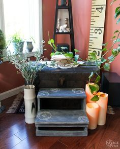 Step Stool Makeover - The Navage Patch