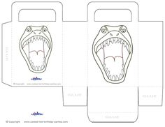Printable T-Rex Dino Favorbag - Coolest Free Printables
