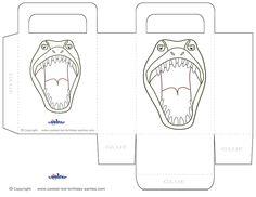 Printable T-Rex Dino Favorbag - Coolest Free Printables