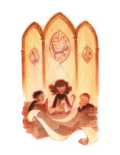 At the Library: 8.5x11 Art Print by CaseyRobinArt on Etsy
