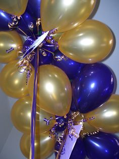 Purple and Gold Balloons for Mardi Gras party by Celebrate the Day Prince Birthday, 50th Birthday, Birthday Ideas, Happy Birthday, Balloon Shop, Balloon Gift, Grad Parties, Birthday Parties, 50 Anniversary
