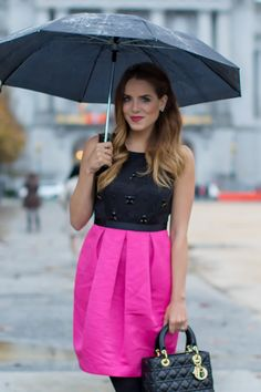 Pink & Black Dress - Gal Meets Glam