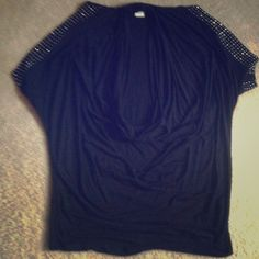 Venus. Cowl-neck top Super slinky, long flap sleeves with studs. Long/ can be worn as a tunic. NWOT venus Tops