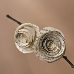 A DIY tutorial on how to make flowers out of pages of an old book.