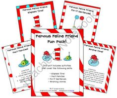 """Famous Feline Friend Fun Pack Giveaway! - Have fun with our """"Famous Feline Friend"""" anytime of the year with these Math and Literacy activities!.  A GIVEAWAY promotion for Famous Feline Friend Fun Pack (Math and Literacy Ideas) from 3rd Grade Gridiron on TeachersNotebook.com (ends on 1-19-2014)"""