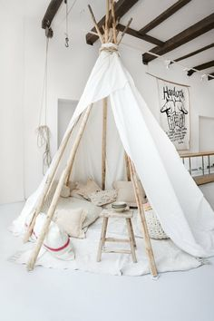 White tee pee for adults