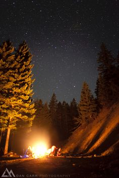 A starry nite round the camp fire
