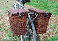 willow bike baskets by Dunbar Gardens on Flickr.