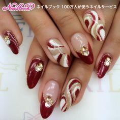 Christmas Nail Designs - My Cool Nail Designs Elegant Nail Designs, Elegant Nails, Classy Nails, Beautiful Nail Designs, Fancy Nails, Cool Nail Designs, Cute Nails, Frensh Nails, Xmas Nails