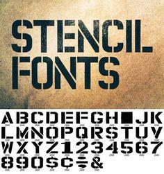 Permanent Market Stencil Fonts