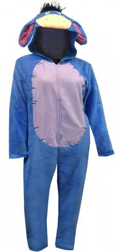 9cf627d026 WebUndies.com Disney s Eeyore One Piece Union Suit Pajama Lounge Pants