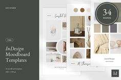 Introducing: the Pima Moodboard Templates for InDesign! The template includes 34 fully-customizable boards with unique photo, color, and branding layout options. Each board is 1080 x Branding Template, Keynote Template, Mockup Templates, Layout Template, Email Newsletter Template, Footer Design, Project Proposal Template, Instagram Highlight Icons, Mood Boards
